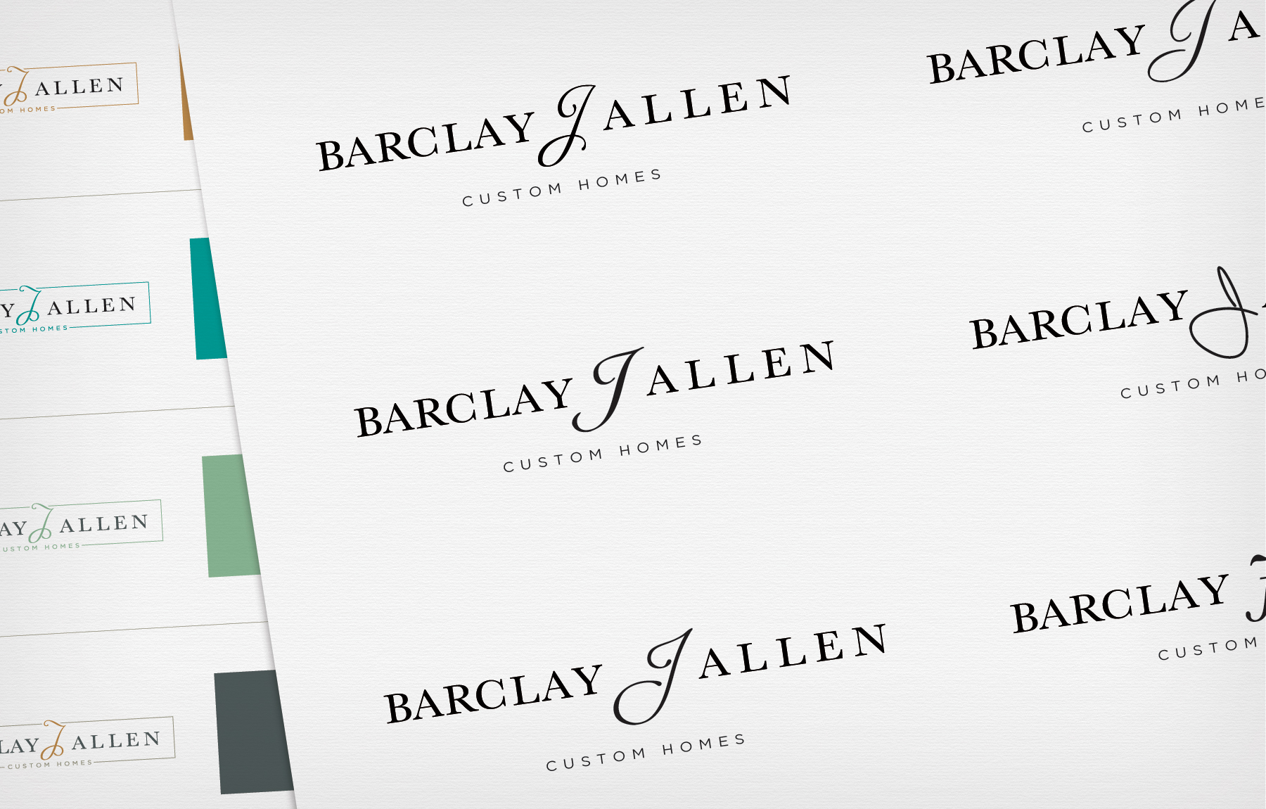 Color and Font Variations of New Timberlin Homes Logo