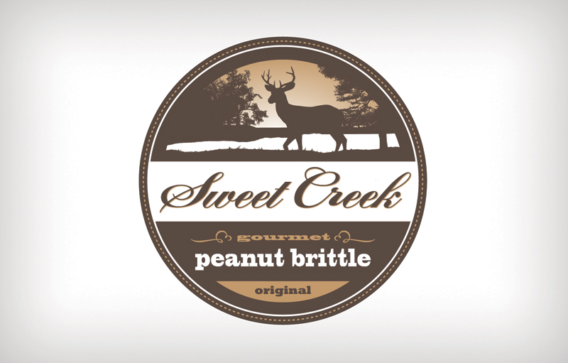 "Sweek Creek Logo Identity. Branded with a fresh take on the ""Old Fashioned"" style."